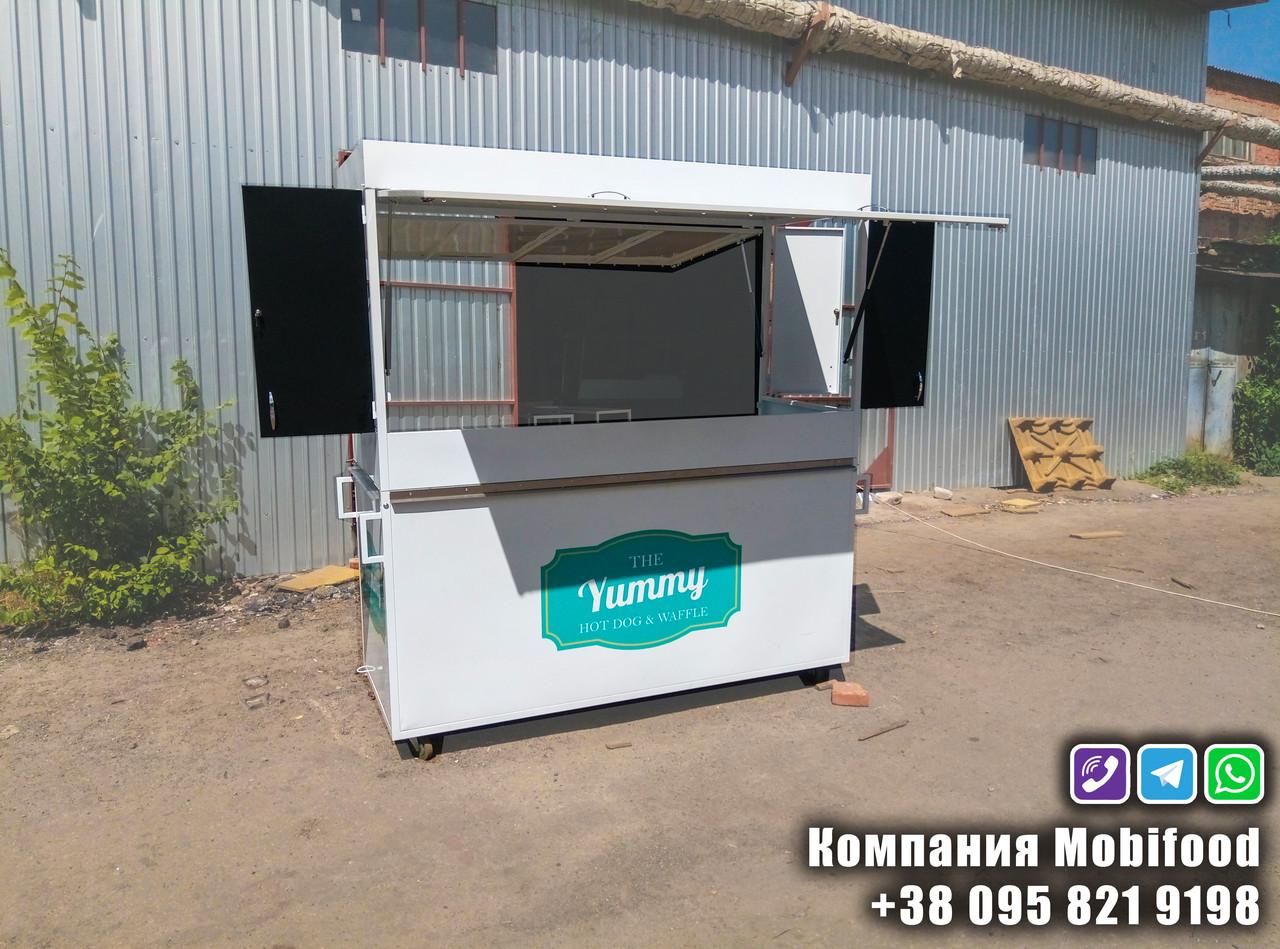 Торговая стенд из стали для кофейни и уличной еды (ТТС-2)