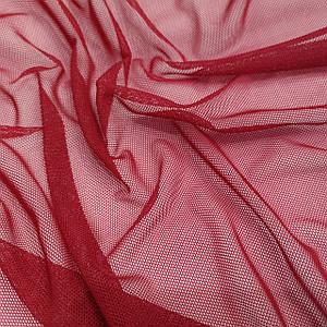 Ткань сетка стрейч бордовая 1пог.м остаток