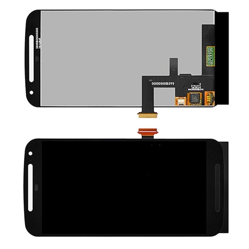 Дисплей модуль Motorola XT1062 Moto G2, XT1063 Moto G2, в зборі з тачскріном, чорний