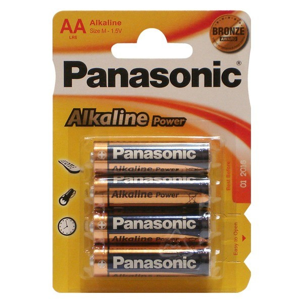 Батарейка Panasonic Alkaline Power AA/LR06 BL 4 шт