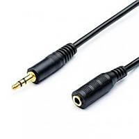 Аудио-кабель Atcom (16847) mini-jack 3.5мм(M)-mini-jack 3.5мм(F) 1,8м пакет (Удлинитель)