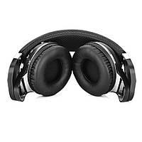 Bluetooth наушники Bluedio T2S (автономность до 40 часов, черные)