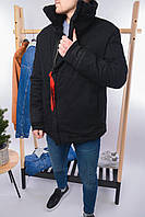 Тёплая зимняя куртка оверсайз мужская Турция(S M L XL XXL)