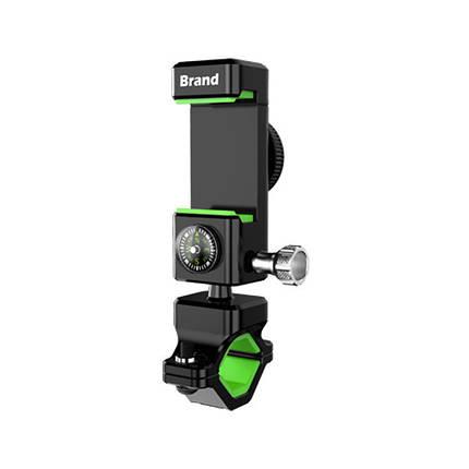 Тримач для телефону на кермо велосипеда з компасом і підсвічуванням Green, фото 2