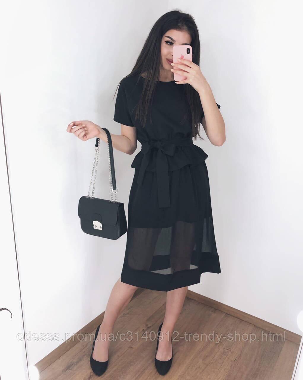 Платье женское вечернее чёрное, 42-46