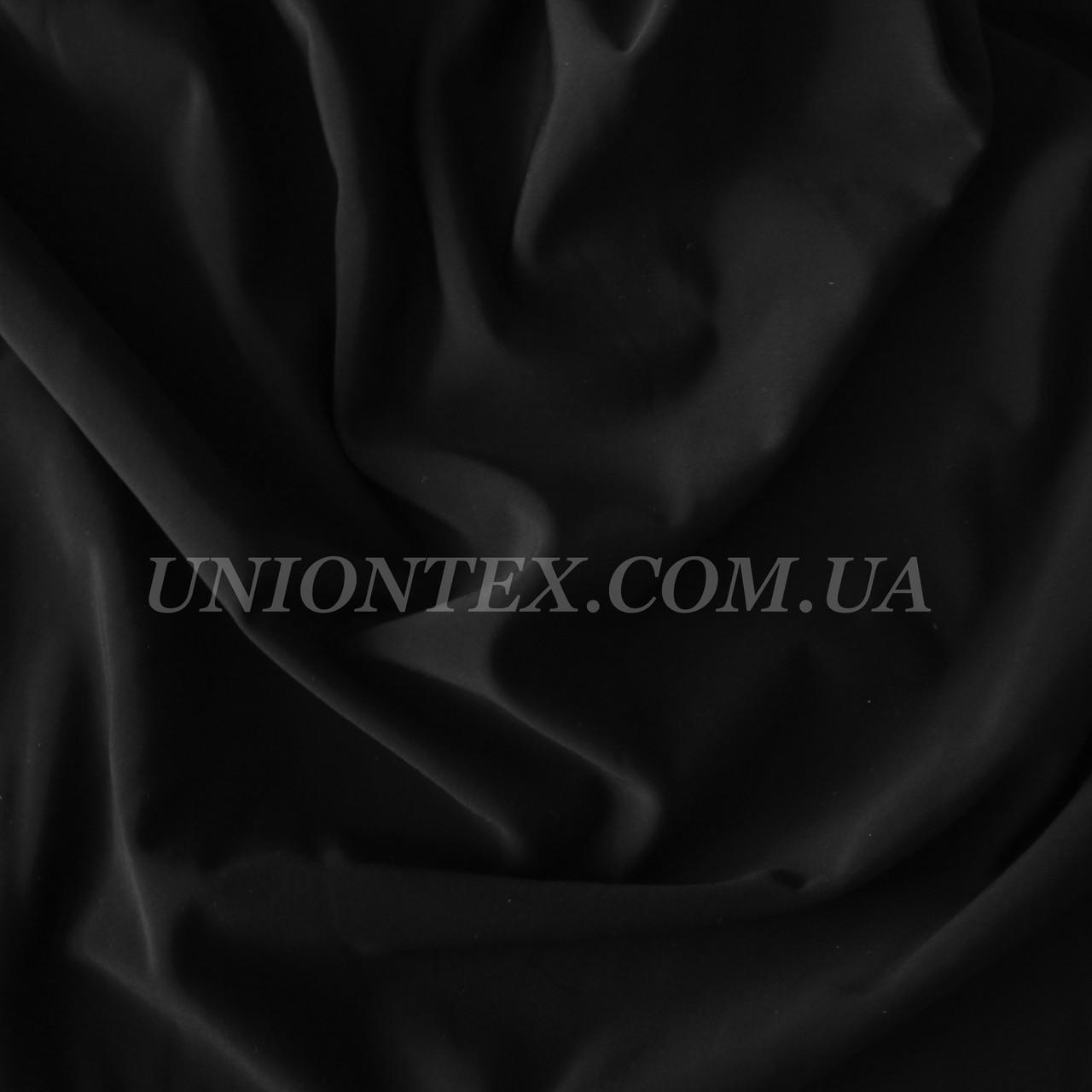Трикотаж бифлекс (купальник) матовый черный 2пог.м остаток