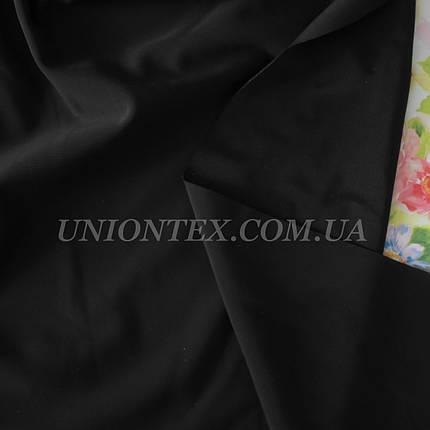 Трикотаж бифлекс (купальник) матовый черный 2пог.м остаток, фото 2