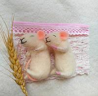 """Интерьерная миниатюра  """"Спящий мышонок"""""""