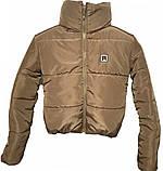 ОПТОМ Коротка дута куртка з капюшоном і об'ємним коміром, фото 2