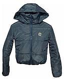 ОПТОМ Коротка дута куртка з капюшоном і об'ємним коміром, фото 3