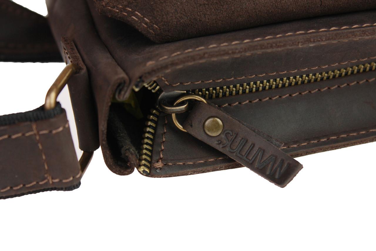 Сумка мужская кожаная на плечо SULLIVAN smvp118-2(30) коричневая 6