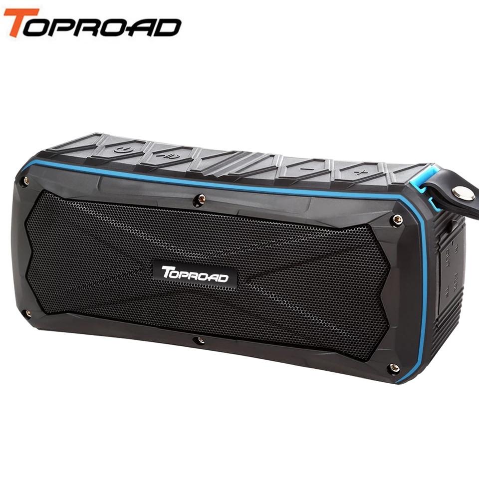 Беспроводная Bluetooth колонка Toproad S610 Blue IP66 Waterproof, поддержка microSD, функция Power Bank