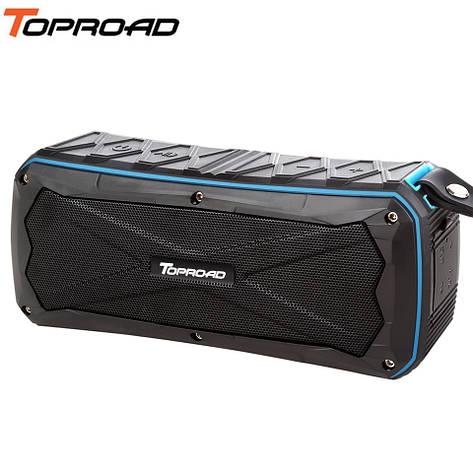 Беспроводная Bluetooth колонка Toproad S610 Blue IP66 Waterproof, поддержка microSD, функция Power Bank, фото 2