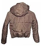 ОПТОМ Коротка дута куртка з капюшоном і об'ємним коміром, фото 6
