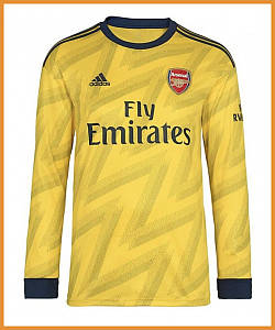 Футбольная форма Арсенал (Arsenal) 19/20 выезд/желтый
