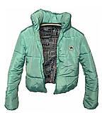 ОПТОМ Коротка дута куртка з капюшоном і об'ємним коміром, фото 8