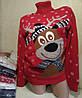 Свитер под горло с оленем/ снежинками женский (ПОШТУЧНО) В РАСЦВЕТКАХ