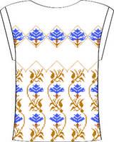 Блузка женская с треугольным вырезом
