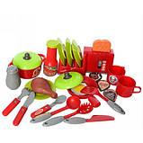 Детская кухня, посуда, продукты, тостер, игрушечные кухни, игровые наборы, 2 цвета, фото 2