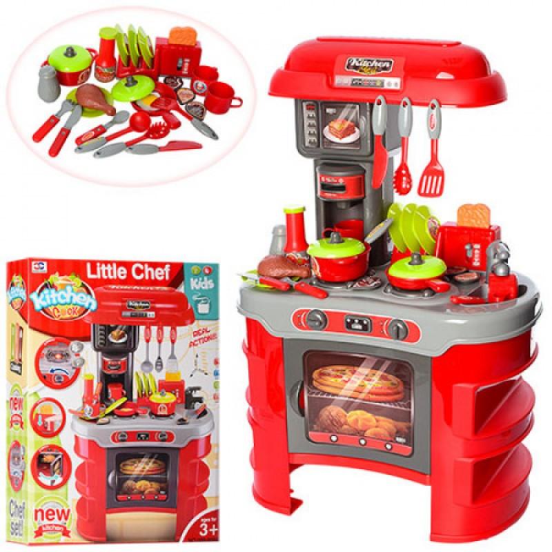 Детская кухня, посуда, продукты, тостер, игрушечные кухни, игровые наборы, 2 цвета