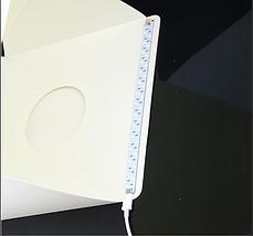 Photobox для предметної зйомки 30x30x30 див. з освітленням Led, фото 2