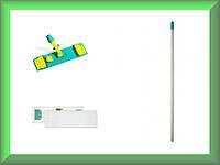 Швабра Wet System Light ECO с блокировкой полиэстр 40см TTS 1041868Y210W в комплекте (Италия)