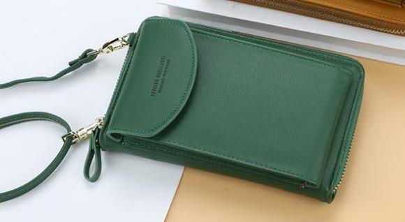 Сумка для телефону Baellerry forever через плече Зелена, сумка гаманець