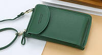 Сумка для телефону Baellerry forever через плече Зелена, сумка гаманець, фото 1