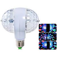 Светодиодная вращающаяся Диско-лампа двойная LED Magic Ball Light