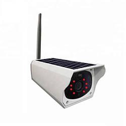 Уличная камера видеонаблюдения IP WIFI 1080 HD с солнечной панелью