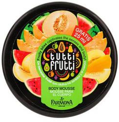 """Крем легкий для тела """"Дыня и арбуз"""" Farmona Tutti Frutti Body Mousse Melon And Watermelon, 275 ml."""