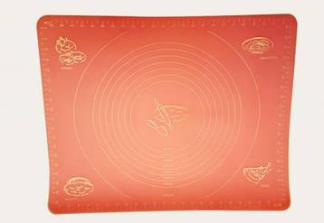 Коврик силиконовый для раскатки и выпечки 40х50 см с разметкой