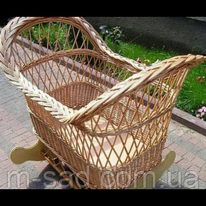 Плетеная кроватка для новорожденных, фото 2