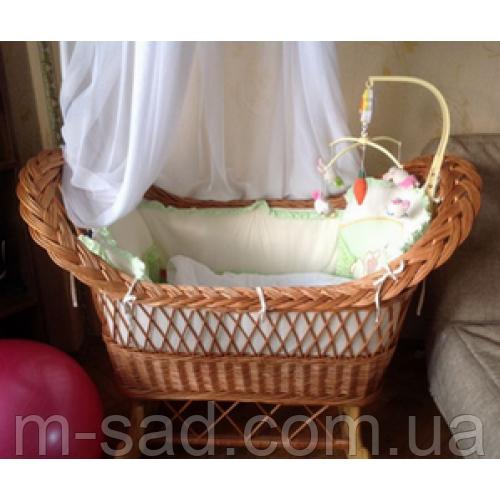 Плетеная кроватка для новорожденных
