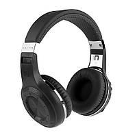 Bluetooth наушники Bluedio H Plus (с разъемом под MicroSD и FM-радио, черные)