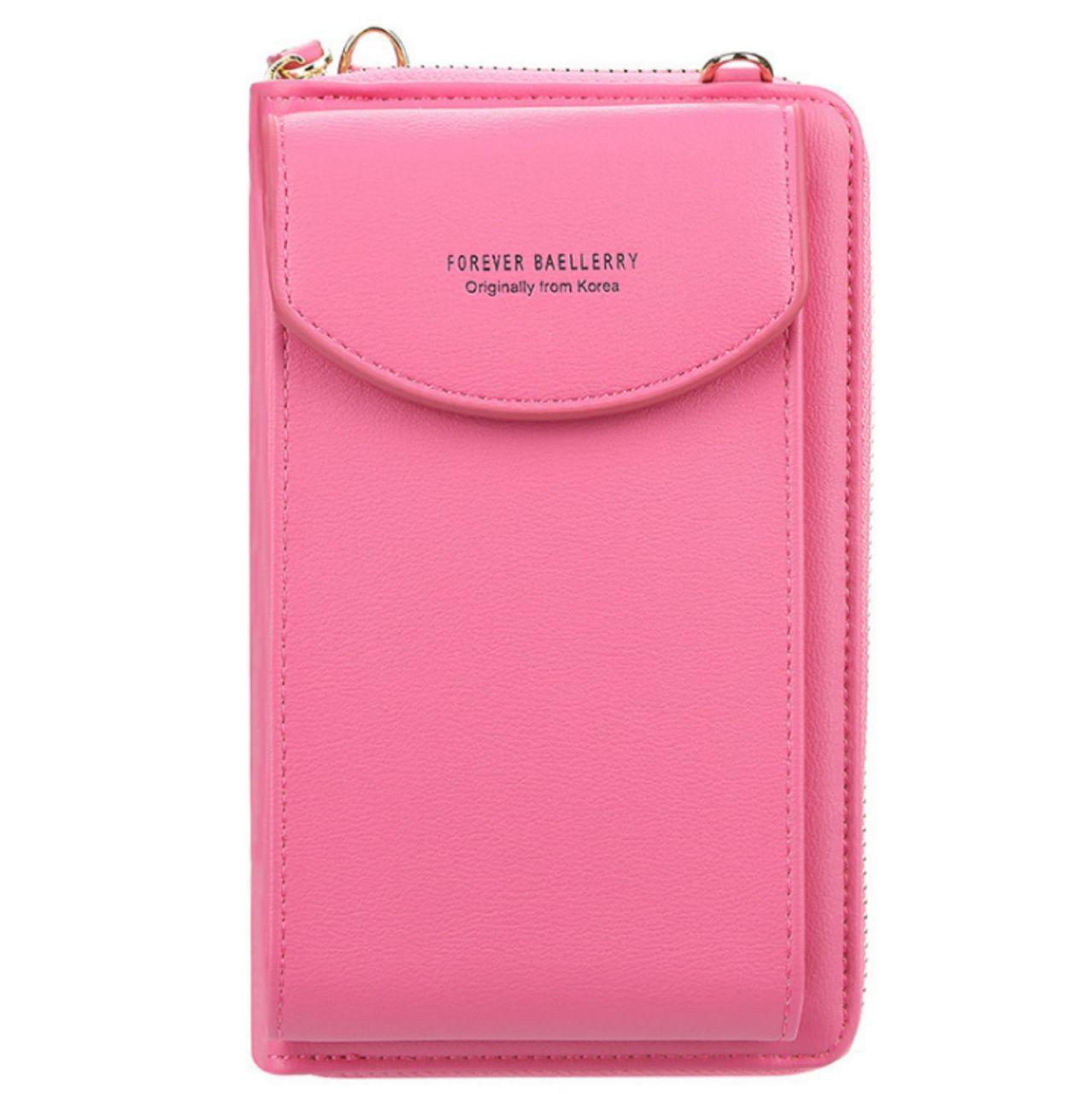 Сумка для телефона Baellerry forever через плечо Малиновый, сумка кошелёк