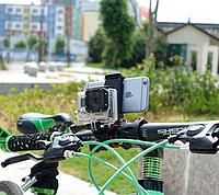 Двойное крепление на велосипед для телефона,экшен-камер , фото 1