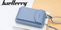 Сумка для телефона Baellerry forever через плечо Голубой, женский клатч-кошелек