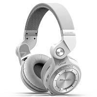 Bluetooth наушники Bluedio T2S (автономность до 40 часов, белые)