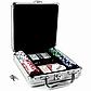 Набор для покера на 100 фишек в алюминиевом кейсе с фишками без номинала, фото 2