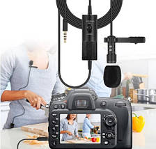 Універсальний петличний мікрофон для смартфона,фото та відео-камер (конденсаторний ) Yanmai довжина 6 метрів, фото 3