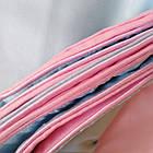 Постельное белье двуспальное Евро (4 наволочки) однотонное двухцветное Пепел розы Фабричная Турция, фото 3