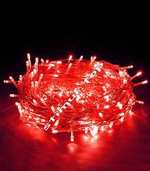 Гірлянда світлодіодна червона 500 LED ▶ Светодиодная красная гирлянда на 100 лампочек