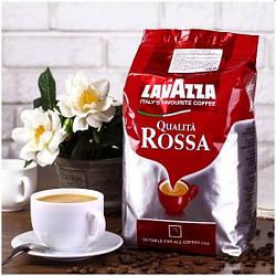 Кофе Зерновой Lavazza Qualita Rossa 1 кг. 60% Арабика, 40% Робуста