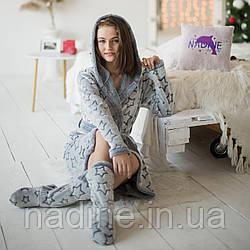 Халат махровый + сапожки Eirena Nadine (565-46) рост 146 синий