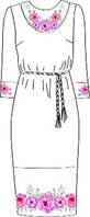 Платье женское с поясом, белое