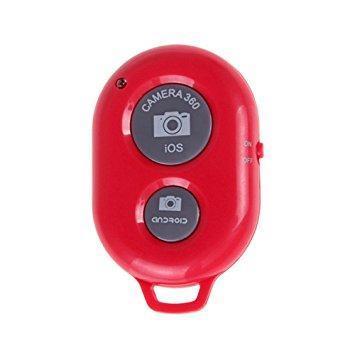 Bluetooth пульт (блютуз) для телефона, пульт для селфи Красный