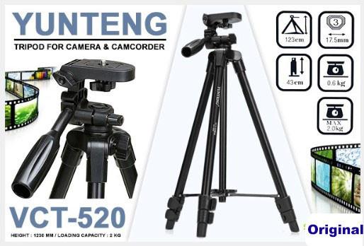 Штатив Yunteng YT-520 для смартфонов,фото и видео камер