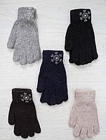 """Перчатки женские Шерсть от """"Корона"""" Оптом 12 пар разные цвета"""