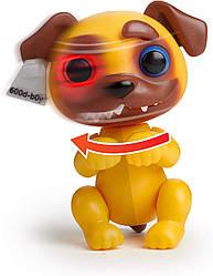Гримлингс  интерактивный щенок Джукярд  Оригинал WowWee Fingerlings Grimlings -  Pug Junkyard